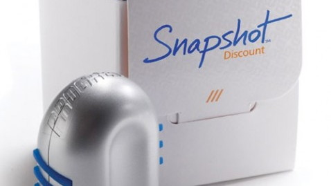 Snapshot car insurance tracking device