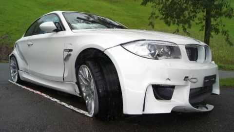 The third crashed BMW 1-Series M Coupe. Image via GT Spirit.