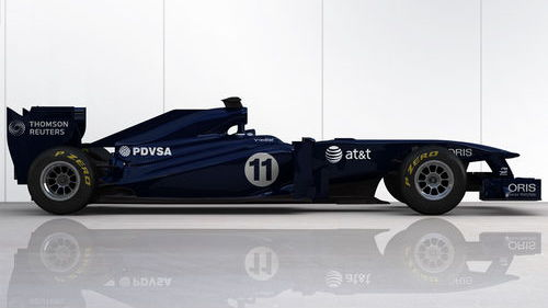 Williams Cosworth FW33 2011 F1 race car in interim livery