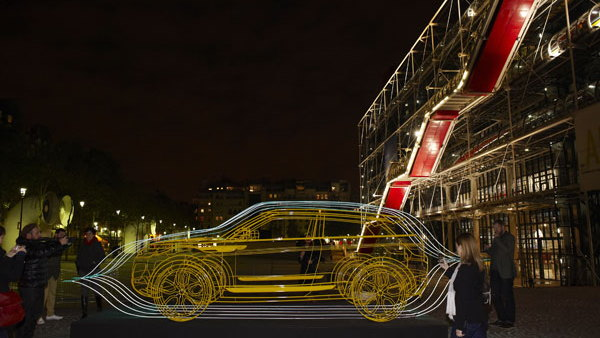 2010 Paris Auto Show: Wireframe street art by Yorgo Touplas