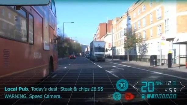 Autoglass augmented reality windscreen