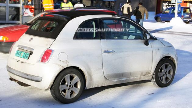 2010 Fiat 500 Cabrio spy shots