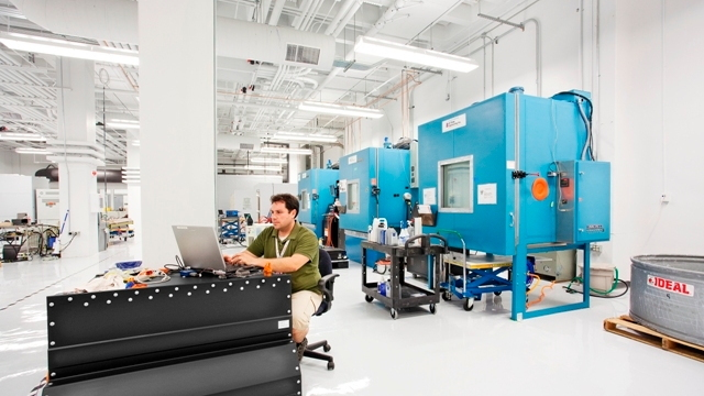 Tesla Motors battery test facility