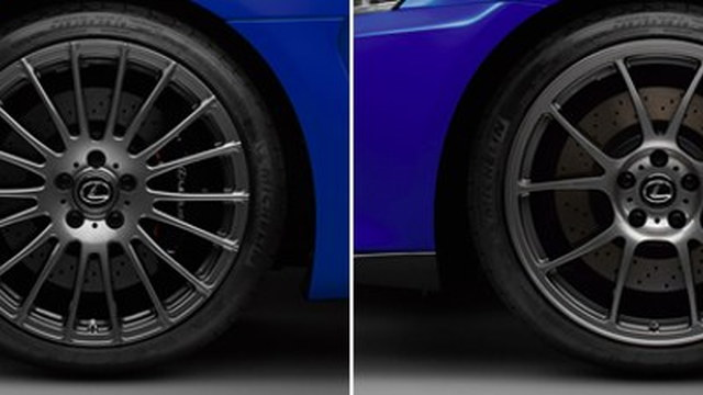Lexus CCS wheel options.