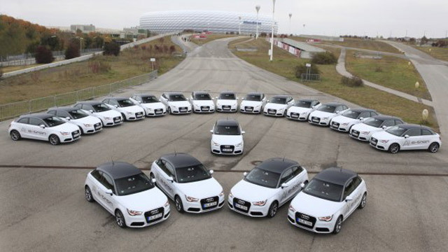 20 Audi A1 e-tron electric cars will be used in the pilot program
