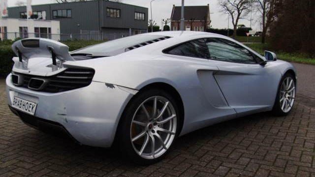 Damaged McLaren MP4-12C in The Netherlands