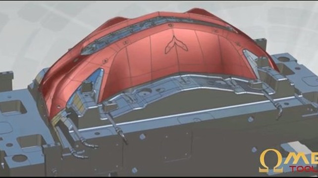Potential 2014 Chevrolet Corvette C7 Front End from Omega Tool Corp Video