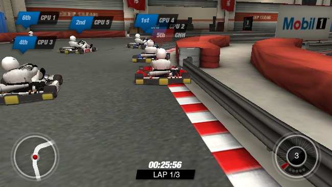 Stills from the Mobil 1 Racing Academy game