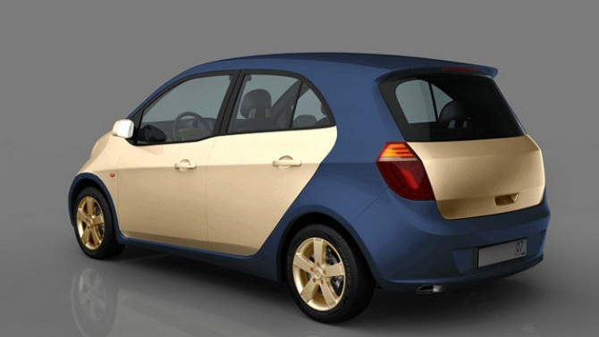 Prokhorov CityCar natural-gas hybrid vehicle, design prototype