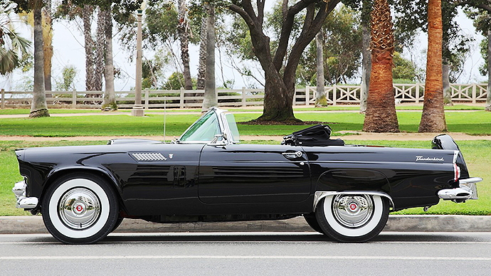 1956 Ford Thunderbird convertible once owned by Marilyn Monroe