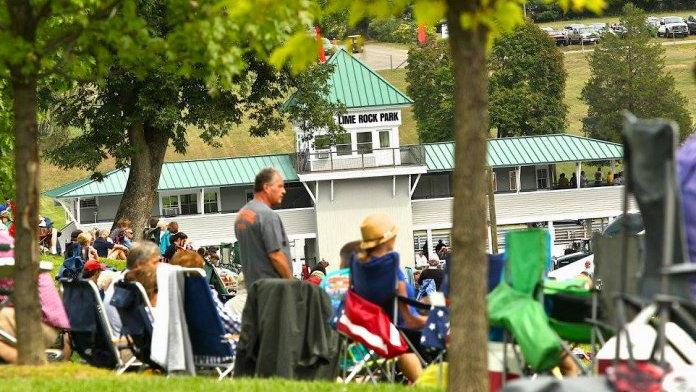 Crowds enjoy Lime Rock Park races from hillside vantage | Lime Rock Park photos