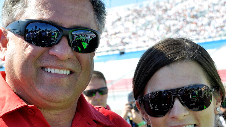 Danica Patrick with her father TJ - Anne Proffit photo