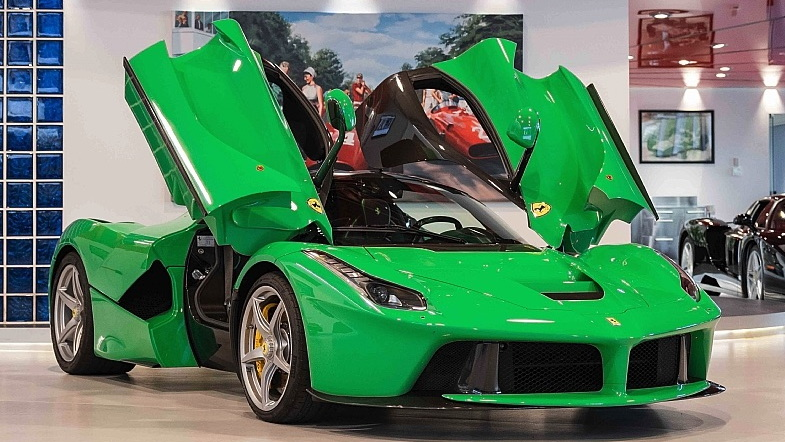 Jay Kay's green Ferrari LaFerrari for sale