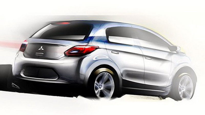 First sketches for Mitsubishi's new global small car