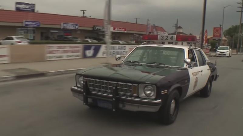 Jay Leno drives a 1978 Chevrolet Nova 9C1 cop car