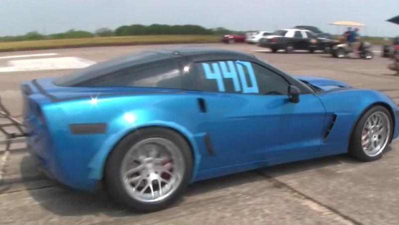 Late Model Racing twin-turbo Corvette