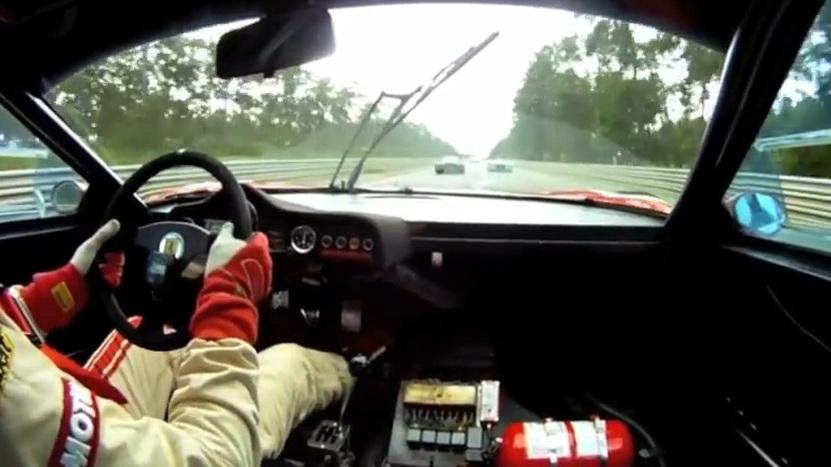 Ferrari 512 BB LM in-car at 2012 Le Mans Classic