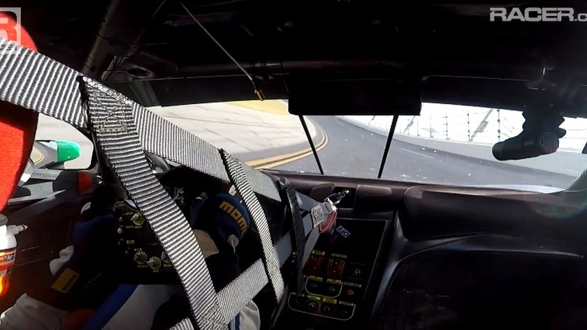 Acura NSX GT3 race car being tested