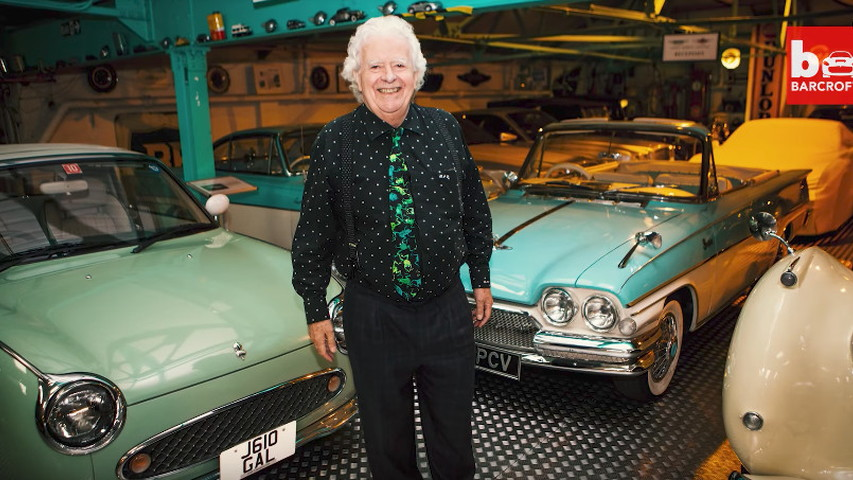 Roger Dudding owns a massive car collection in the UK