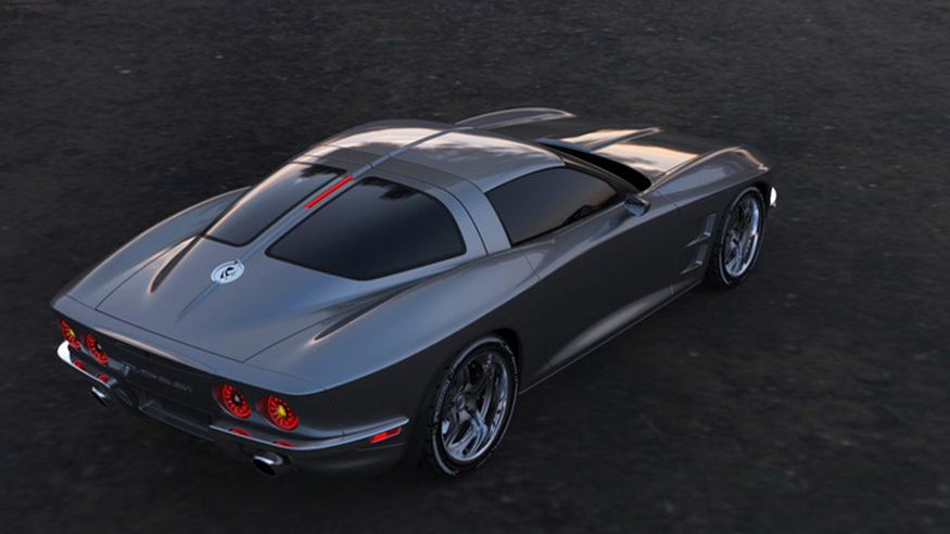 Rossi SixtySix split-window C2-styled C6 Corvette