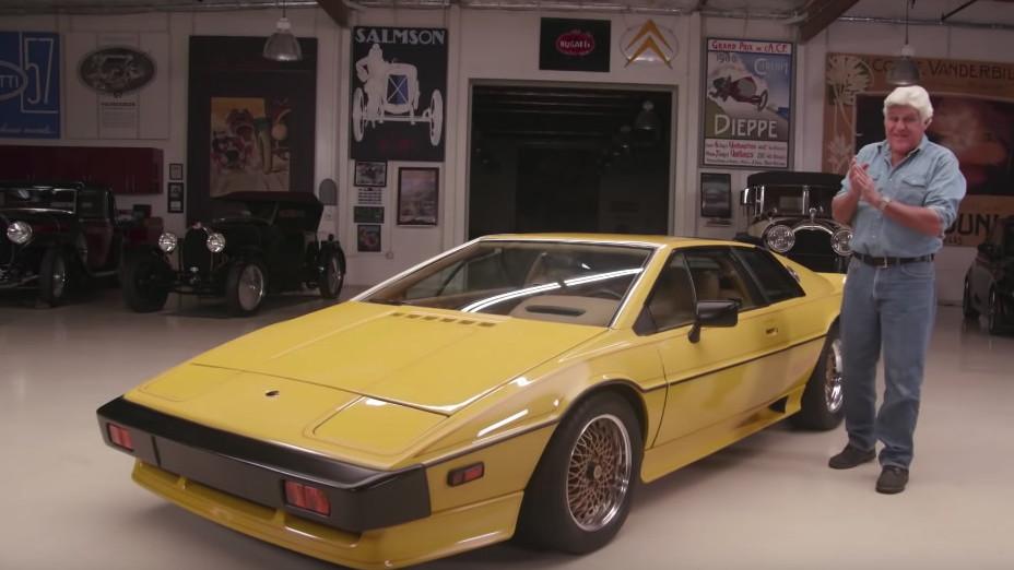 Jay Leno drives a 1977 Lotus Esprit