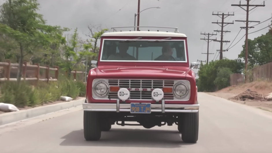 Jay Leno drives a bone stock 1977 Ford Bronco