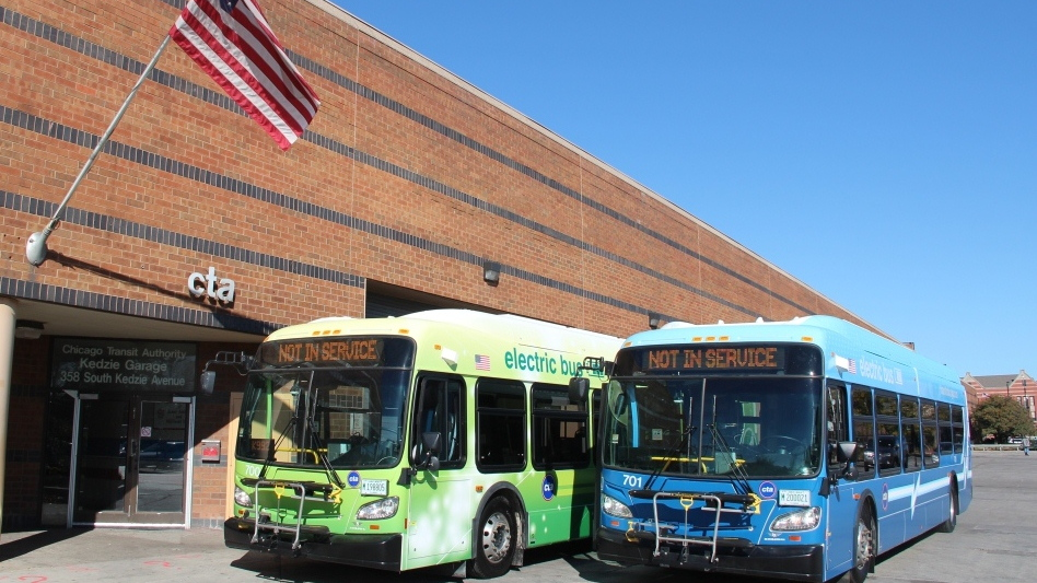 Chicago Transit Authority electric buses