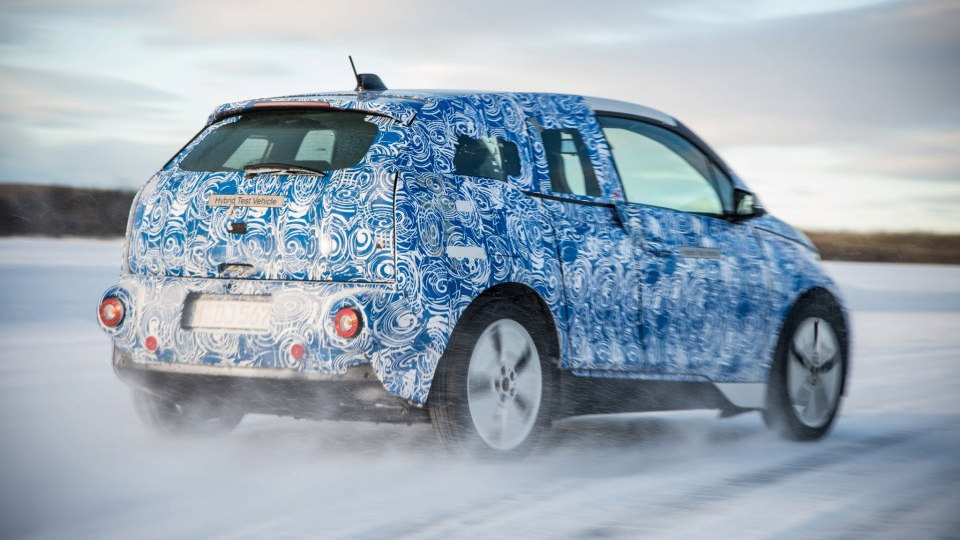 BMW i3 electric car undergoing winter testing, February 2013