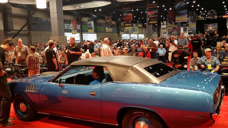 1971 Plymouth Barracuda Convertible sells for $3.5 million (Image: Mecum Auctions)