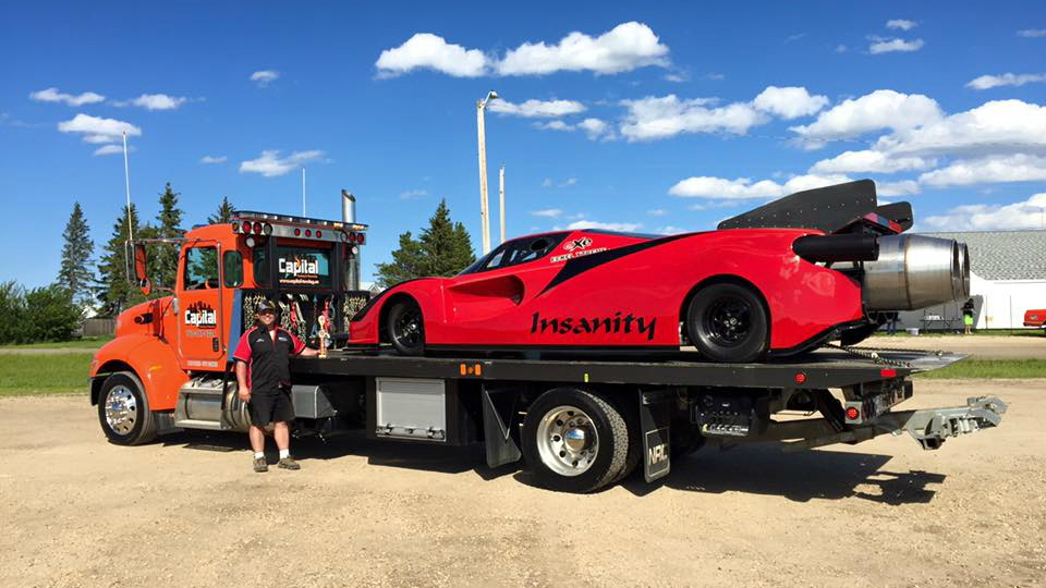 Jet-powered Ferrari Enzo lookalike