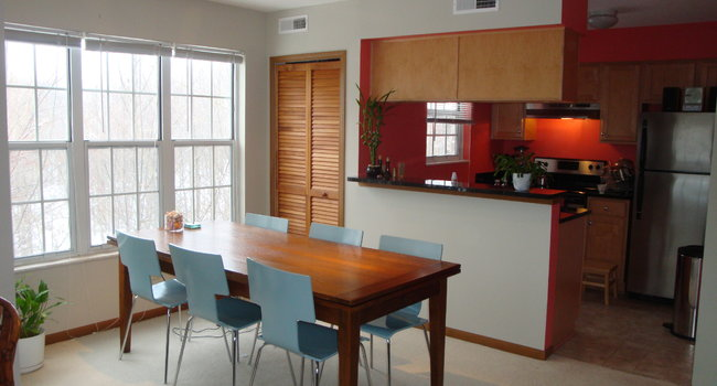 Dining Area / Kitchen (after condo renovations)