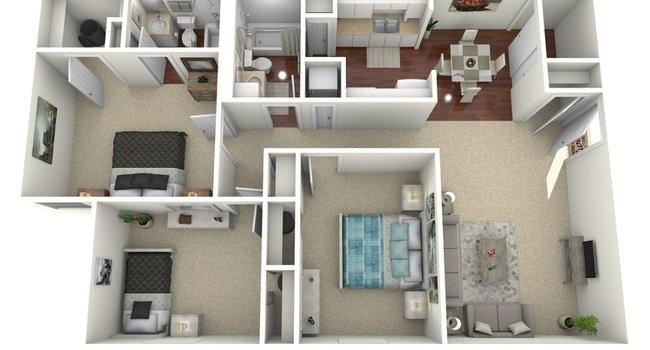 3 Bed C Floorplan Diagram