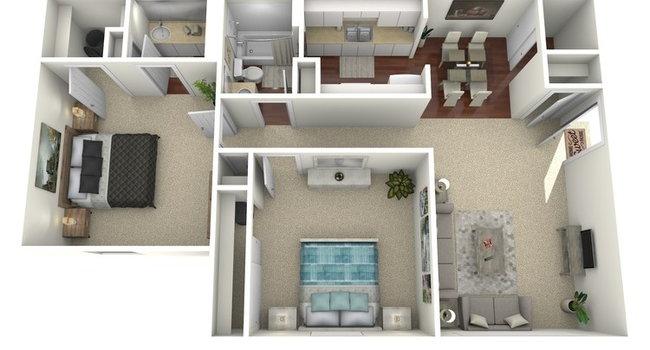 2 Bed B Floorplan Diagram