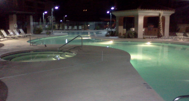 Night is ENCHANTING at Copperstone Apartments!