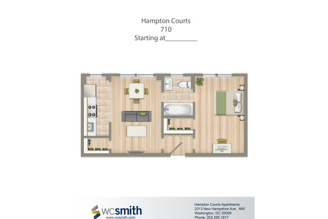 Hampton Courts - 41 Reviews | Washington, DC Apartments for Rent